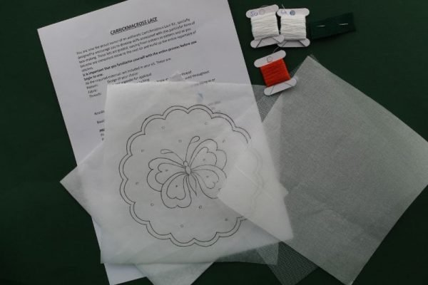 Carrickmacross Lace Butterfly Kit