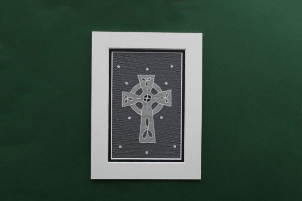 Carrickmacross Lace Mount Celtic Cross