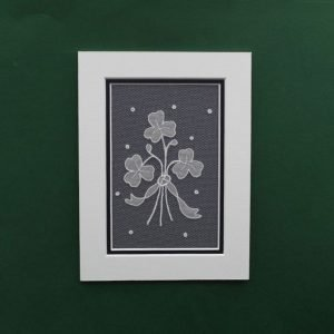 Carrickmacross Lace Mount Shamrock