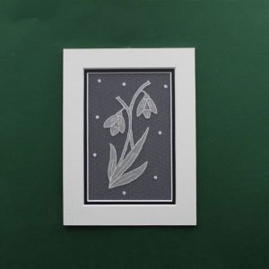 Carrickmacross Lace Mount Snowdrop