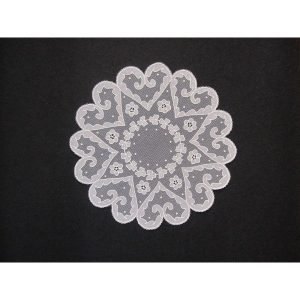 Carrickmacross Lace circle-of-hearts-and-shamrocks