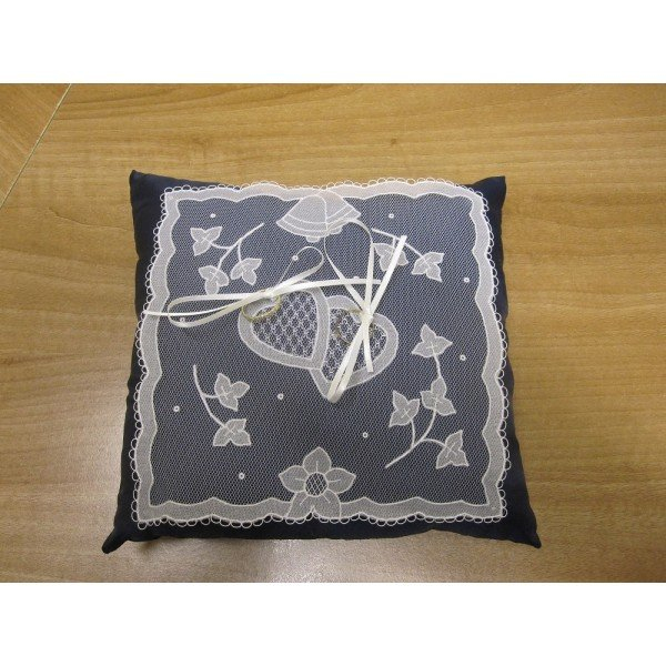 Carrickmacross Lace ring-cushion-piece