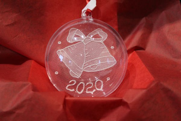 Carrickmacross Lace 2020 Bell Christmas Bauble