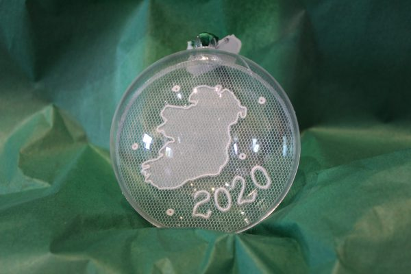 Carrickmacross Lace 202o Ireland Map Christmas Bauble