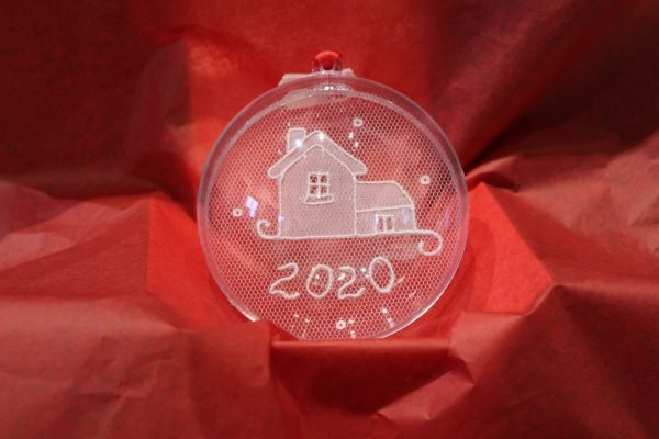 Carrickmacross Lace New House Christmas Bauble