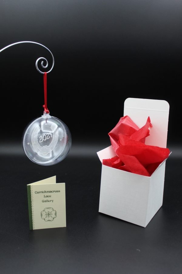Carrickmacross Lace Horseshoe 2021 Christmas Bauble