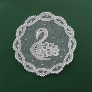 Carrickmacross Lace Bookmark - Celtic Swan