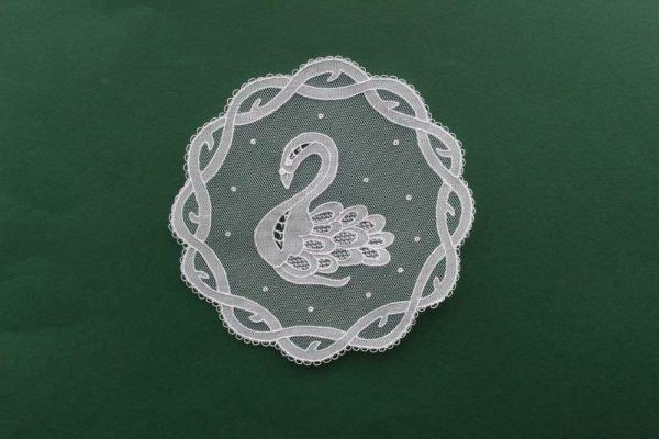 Carrickmacross Lace Bookmark - Celtic Swan