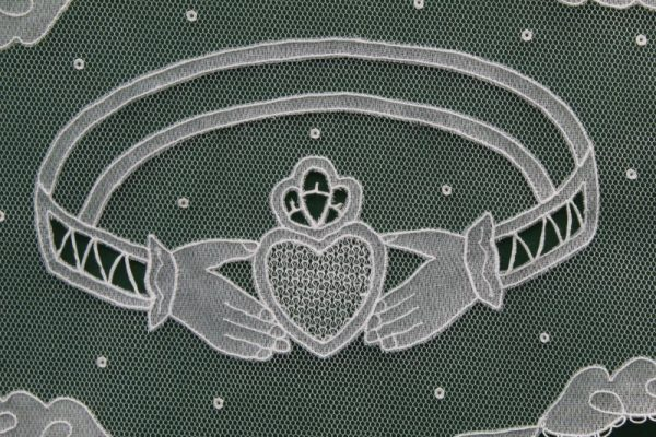 Carrickmacross Lace Claddagh Ring 2