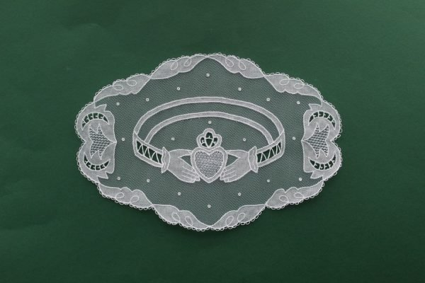 Carrickmacross Lace Claddagh Ring