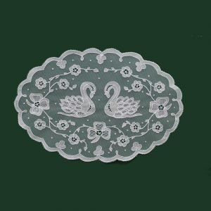 Carrickmacross Lace Double-Swans