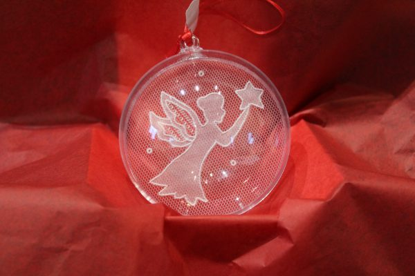 Carrickmacross Lace Fairy Christmas Bauble