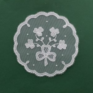 Carrickmacross Lace Four Shamrocks