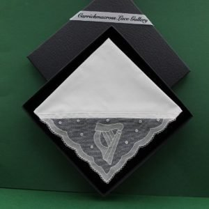 Carrickmacross Lace Handkerchief Harp