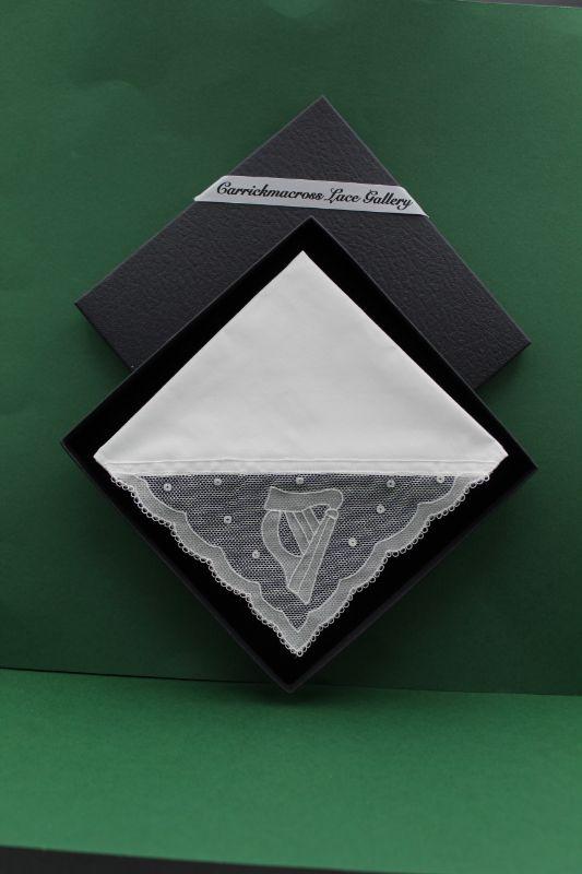 Carrickmacross Lace Handkerchief Harp