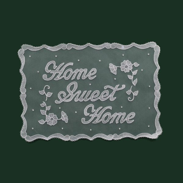 Carrickmacross Lace Home Sweet Home