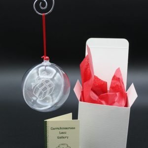 Carrickmacross Lace Gift Box Christmas Bauble