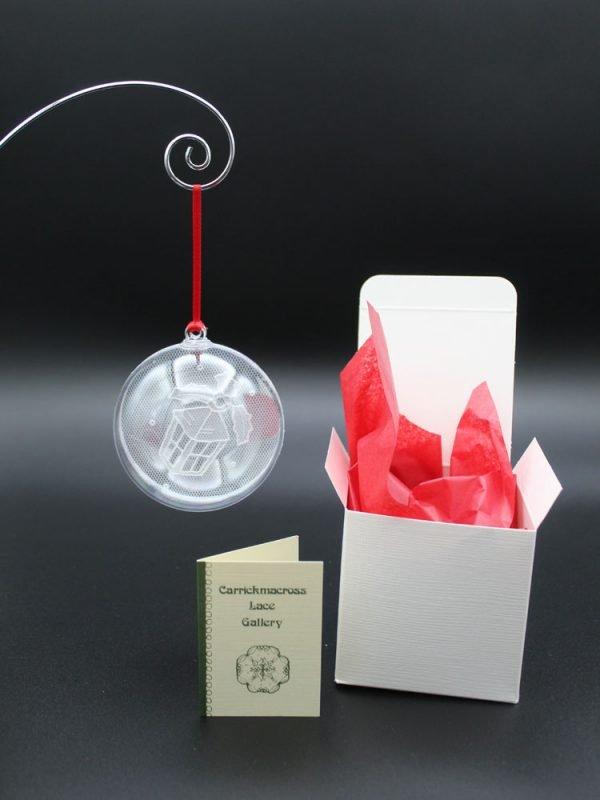 Carrickmacross Lace Lantern Christmas Bauble