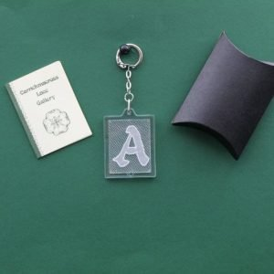 Carrickmacross Lace Keyring Initial