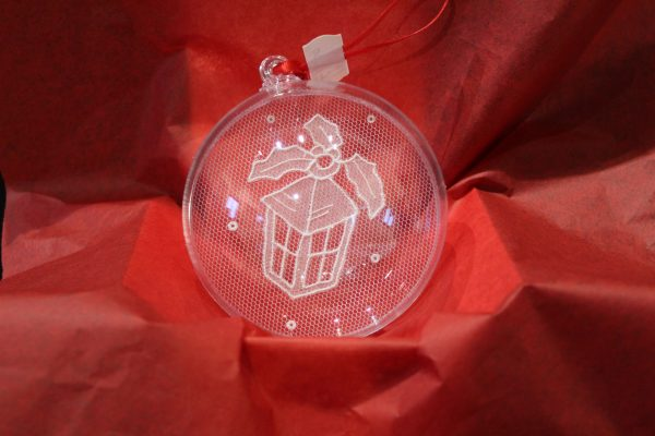 Carrickmacross Lace Lantern Christmas Bauble