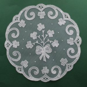 Carrickmacross Lace Shamrock Bow