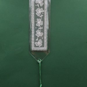 Carrickmacross Lace Bookmark - Shamrocks