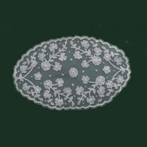 Carrickmacross Lace Shamrocks-with-Flowers