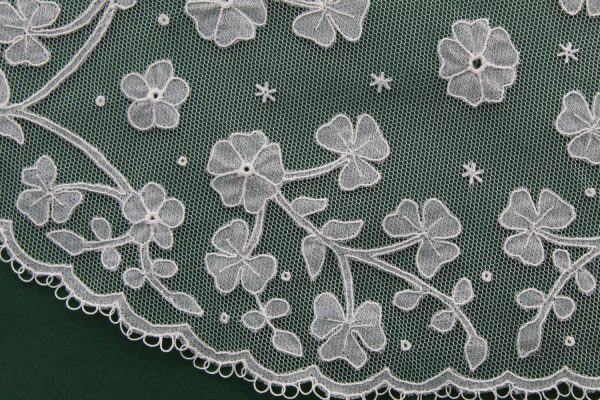 Carrickmacross Lace Shamrocks with Flowers