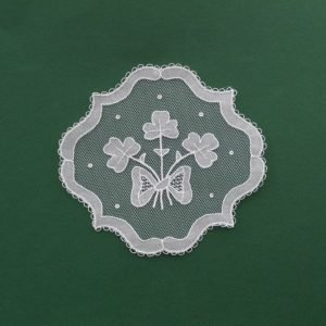 Carrickmacross Lace Small Bow & Shamrocks