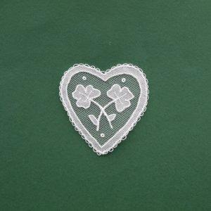 Carrickmacross Lace Small Heart & Shamocks