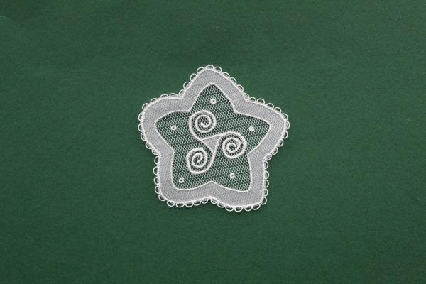 Carrickmacross Lace Small Spiral