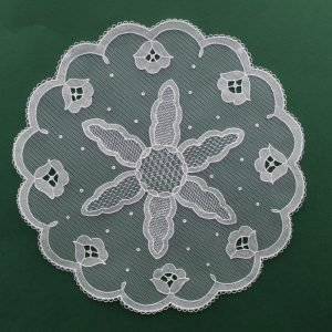 Carrickmacross Lace Starburst Flower Border