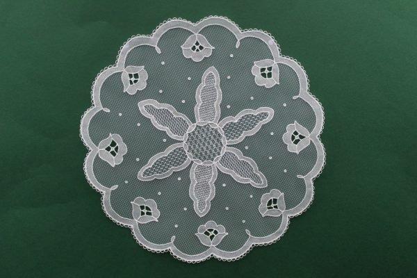 Carrickmacross Lace Starburst Flower Border