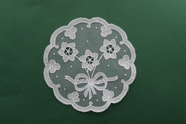Carrickmacross Lace Bow & Flowers