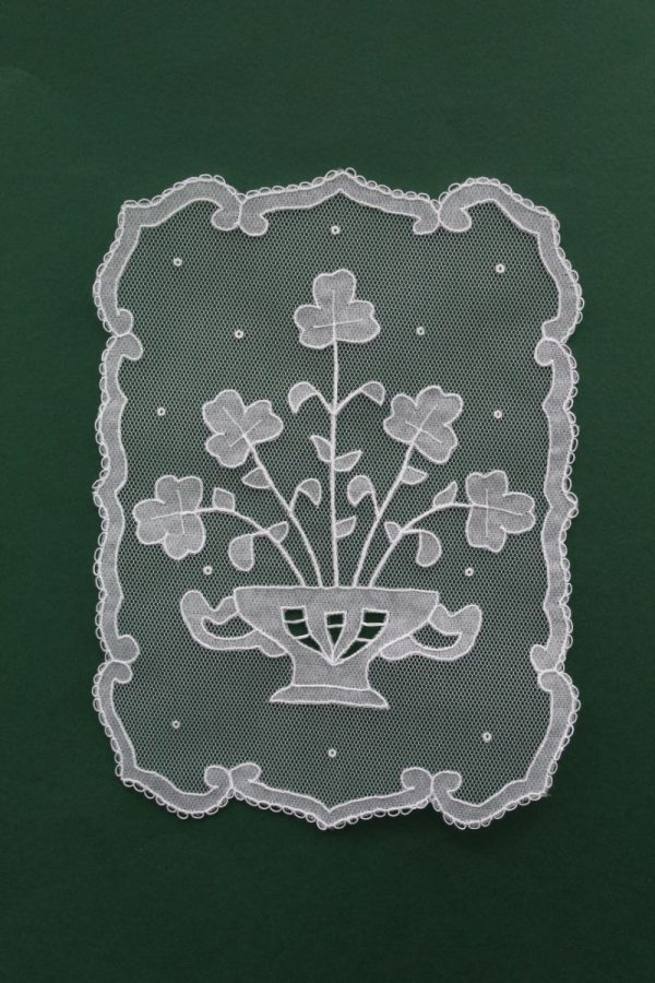 Carrickmacross Lace Bowl of Shamrocks