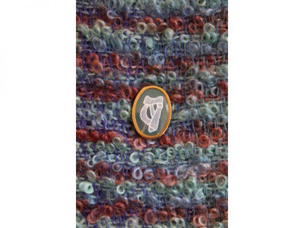 Carrickmacross Lace Brooch Harp