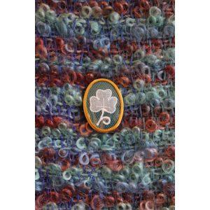 Carrickmacross Lace Brooch Shamrock