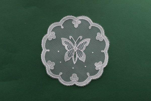 Carrickmacross Lace Butterfly Shamrock Edge