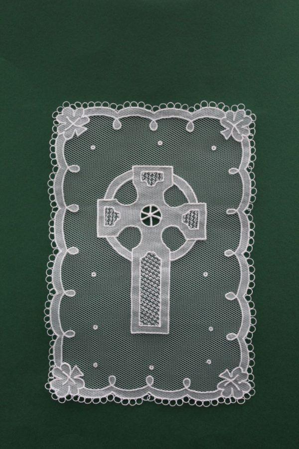 Carrickmacross Lace Celtic Cross