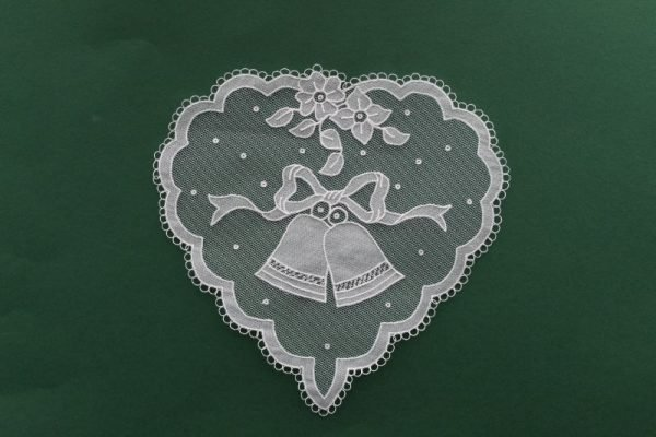 Carrickmacross Lace Heart & Bells
