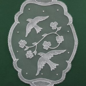 Carrickmacross Lace Oval Birds