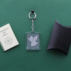 Carrickmacross Lace Keyring Angel