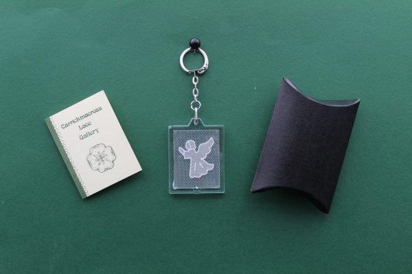 Carrickmacross Lace Keyring Angel