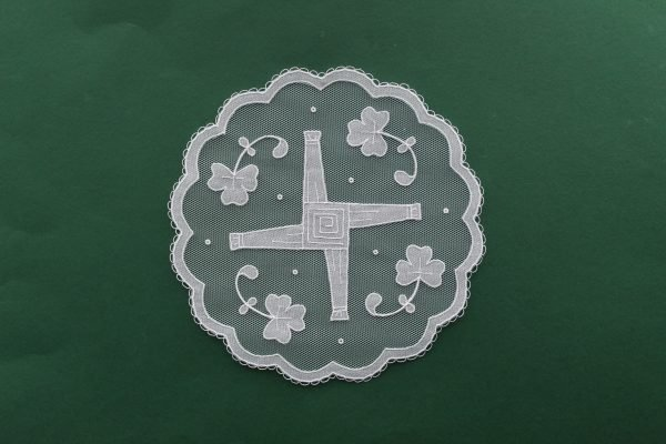 St Bridget's Cross with Shamrocks