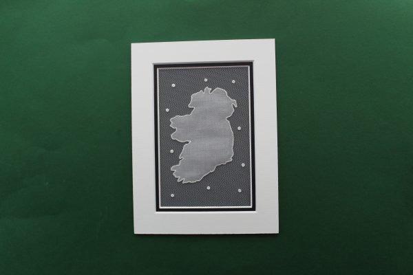 Irish Lace Ireland Map Mount